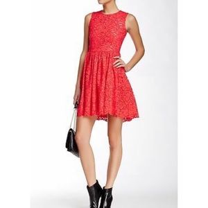 NWT Kate Spade High Low Red Lace Party Cocktail Dress in Geranium sz 00 Holiday
